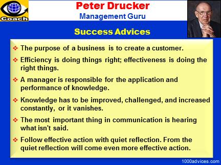 peter drucker management guru inspirational advices
