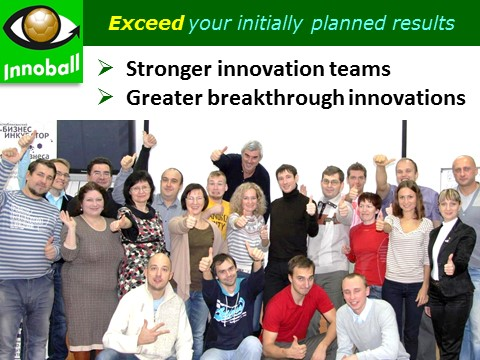 Innoball - innovation team training, stengtheing a venture